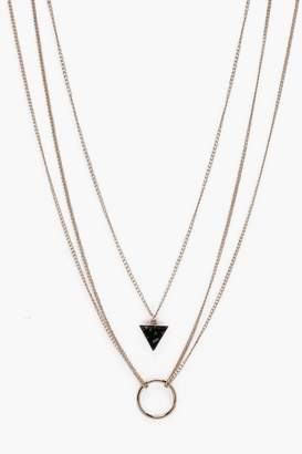 boohoo Multi Chain Necklace In Gold