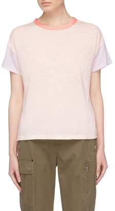 Rag & Bone 'Payton' colourblock slub linen T-shirt