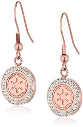 Star Wars Jewelry Imperial Symbol -Plated with Cubic Zirconia Dangle Earrings