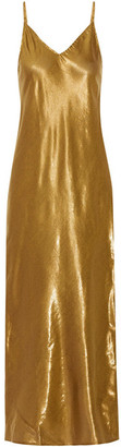 Mes Demoiselles - Brune Lamé Maxi Dress - Bronze $175 thestylecure.com
