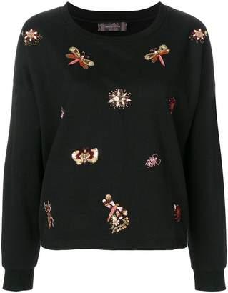 Ash embellished sweatshirt