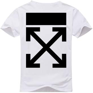 Off-White Men's T-Shirt Short Sleeves Logo in Back White/