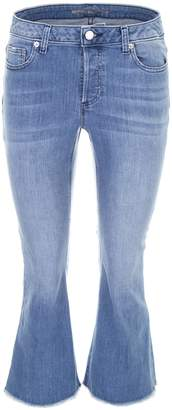 MICHAEL Michael Kors Cropped Jeans With Fringes