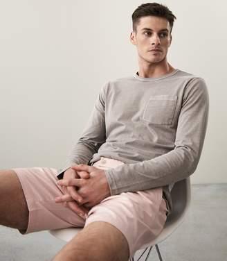 Reiss Bertie Ls Long Sleeved Garment Dyed T-Shirt
