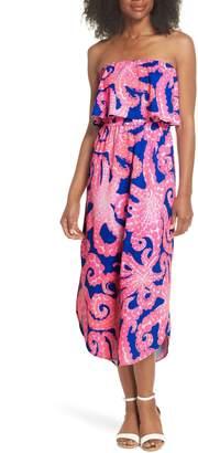 Lilly Pulitzer R) Meridian Strapless Midi Dress