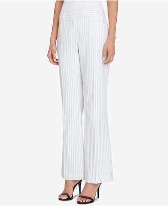 Tahari ASL Petite Pinstriped Straight-Leg Pants