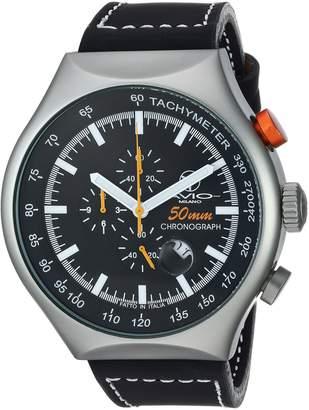 Avio Milano Men's 50 MM GREEN Aluminum Case Chronograph Tachymeter Date Watch