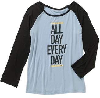 DAY Birger et Mikkelsen Gems and Jets Girls' Raglan Long Sleeve Crew Neck All Everyday Graphic Foil Tee