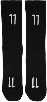 11 by Boris Bidjan Saberi Black Logo Socks $45 thestylecure.com
