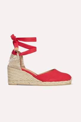 Castaner Carina 60 Canvas Wedge Espadrilles - Red