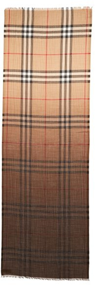 Women's Burberry Ombre Check Wool & Silk Scarf