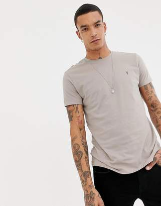 AllSaints t-shirt in beige with logo