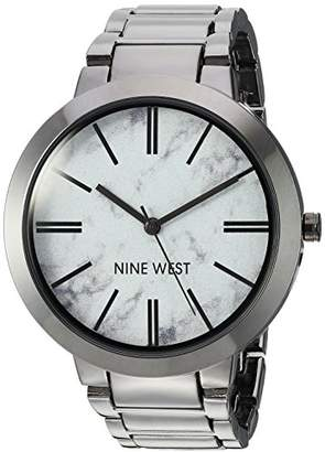 Nine West Women's NW/1985HLTE Marbleized Dial Bracelet Watch