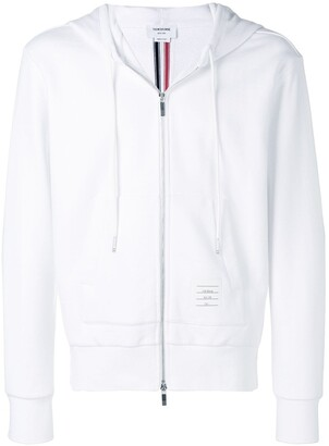 Thom Browne Center-Back Stripe Loopback Hoodie
