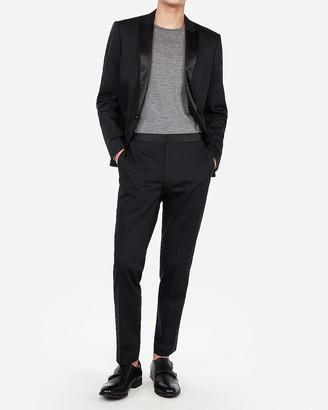 Express Extra Slim Black Satin Accent Cotton Sateen Tuxedo Pant