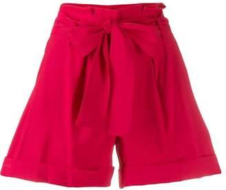 Liu Jo belted pleated shorts