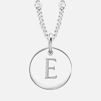 Missoma Women's Initial Charm Necklace - E - Silver