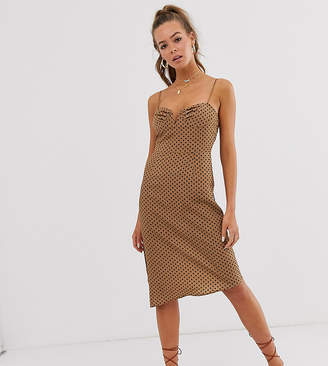Wild Honey midi slip dress with structured bodice