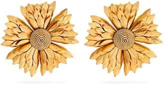 REBECCA DE RAVENEL Flower clip-on earrings