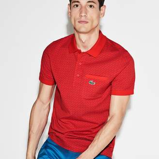 Lacoste Men's SPORT Print Ultra-Light Cotton Golf Polo