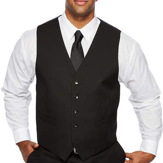 SHAQUILLE O'NEAL Shaquille ONeal XLG Black Stretch Suit Vest - Big and Tall