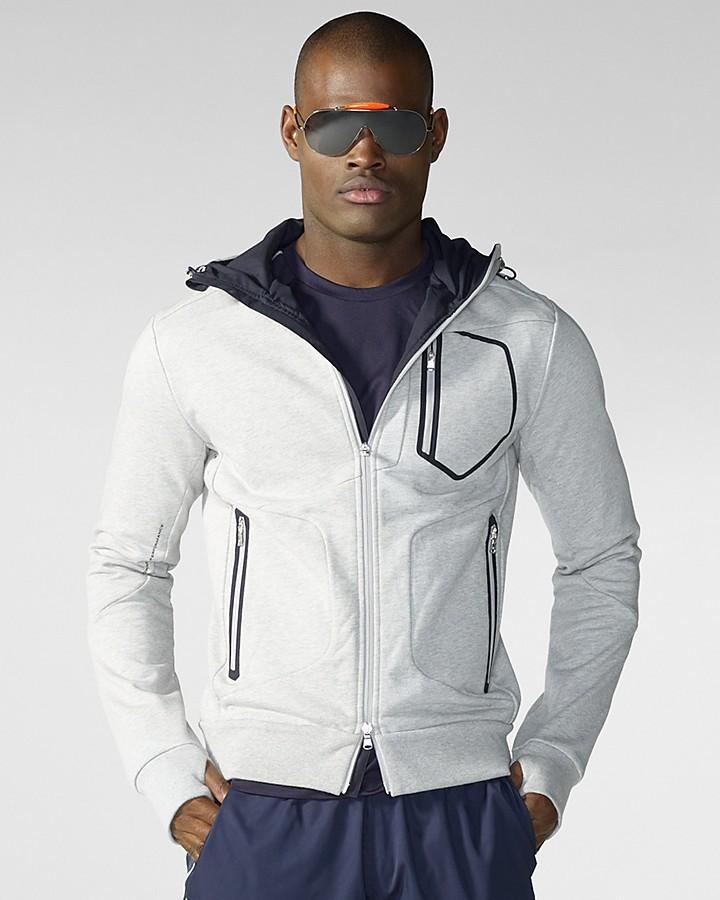 RLX Ralph Lauren Long-Sleeved Full-Zip Compact Fleece Hoodie