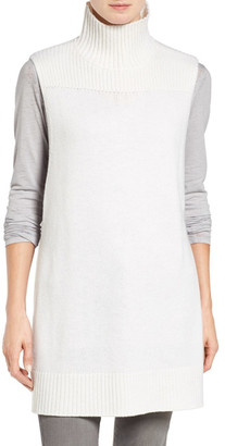 Halogen Mock Neck Knit Sleeveless Pullover $99 thestylecure.com