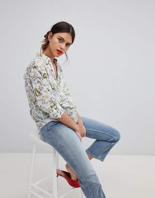 Esprit Tropical Print Blouse