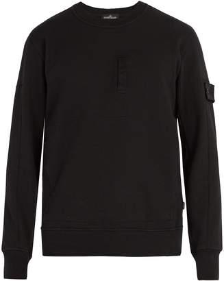 Stone Island SHADOW PROJECT Crew-neck zip-pocket cotton sweatshirt