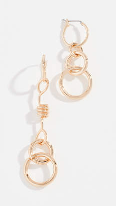 Rebecca Minkoff Mismatched Twisted Links Earrings