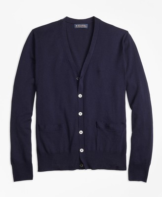 Brooks Brothers BrooksTech Merino Wool Button-Front Cardigan