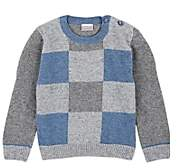 Officina51 Infants' Checked-Front Wool-Blend Sweater