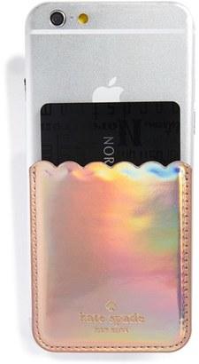 Kate Spade New York Scallop Stick-On Smartphone Case Pocket - Metallic