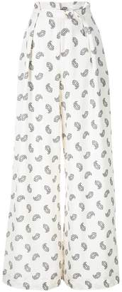 Zimmermann paisley print flared trousers