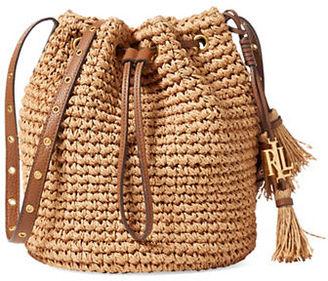 Lauren Ralph Lauren Janice Straw Bag $128 thestylecure.com