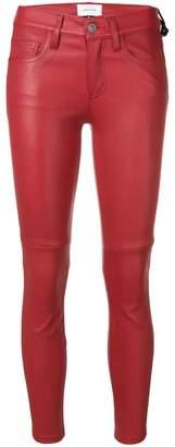 Current/Elliott (カレント エリオット) - Current/Elliott skinny-fit leather trousers