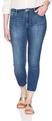 Lee Indigo Women's Modern Collection Skinny Cropped Denim Jean with Cut Hem