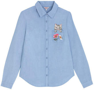 Cath Kidston Cat and FlowersCat Pocket Oxford Shirt