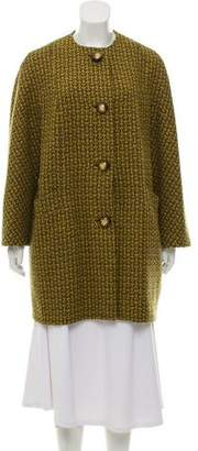 Michael Kors Houndstooth Wool Coat
