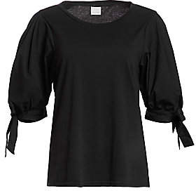 Cinq à Sept Women's Daise Sheer Tie-Sleeve Blouse