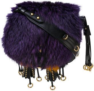 Corsaire fox fur shoulder bag