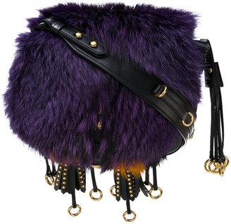 Corsaire fox fur shoulder bag