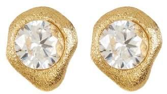 Rivka Friedman CZ Satin Stud Earrings