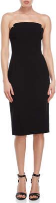 Jill Stuart Strapless Crepe Midi Dress