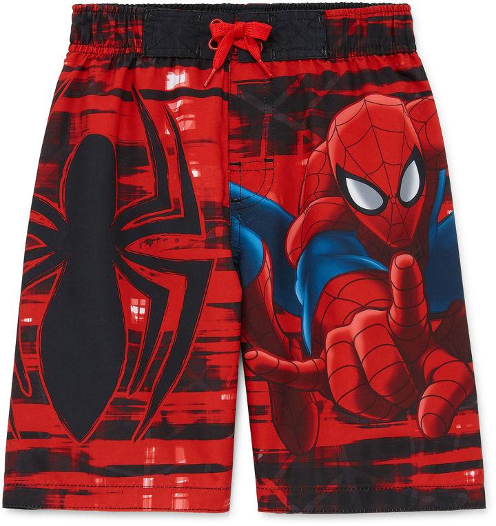 LICENSED PROPERTIES Boys Spiderman Swim Trunks-Preschool