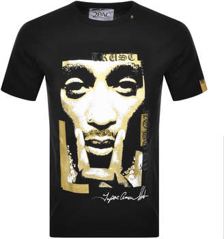 Replay Tupac Tribute Logo T Shirt Black