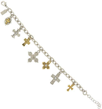 clear 1928 SYMBOLS OF FAITH 1928 Symbols Of Faith Religious Jewelry Womens Charm Bracelet