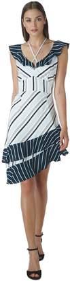 Adelyn Rae Ava Striped Ruffle Dress