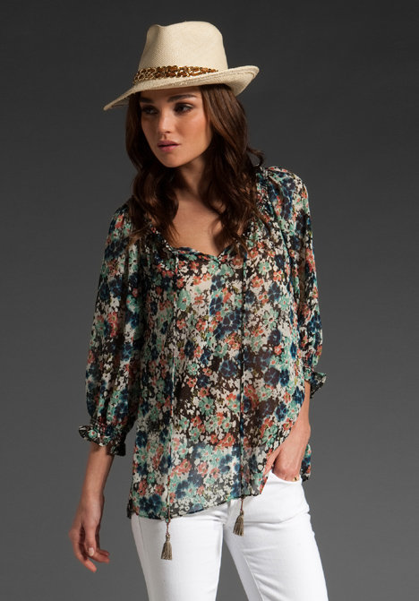 Eight Sixty Floral Bohemian Blouse