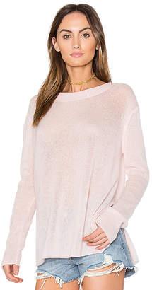White + Warren Side Slit Pullover